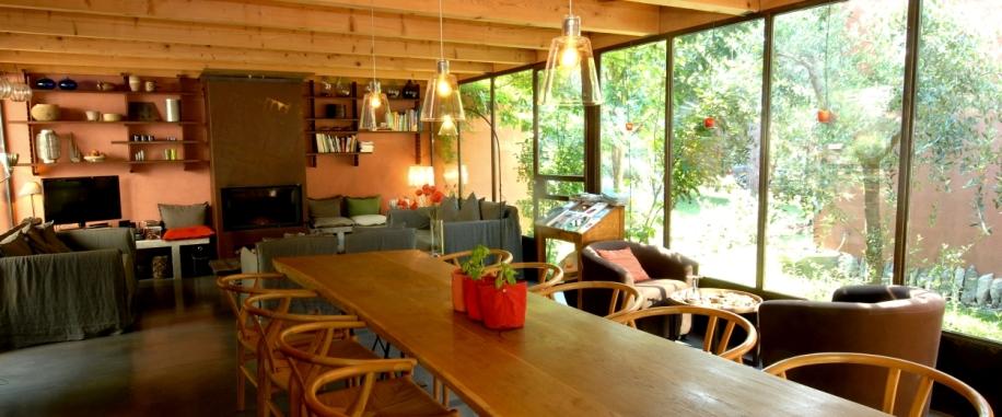 la table en veranda pano